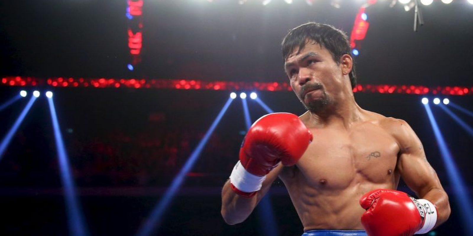 8. Si Pacquiao gana entre el primer y sexto round, se dan 13 dólares Foto:Getty Images