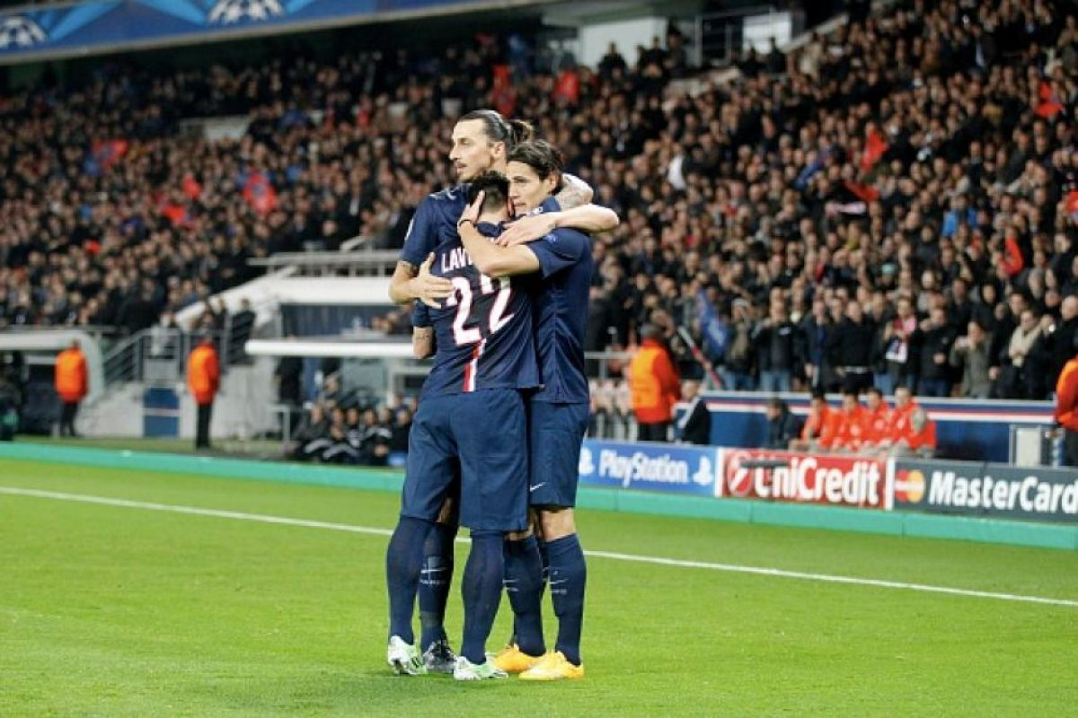 4. Ibrahimovic – Cavani – Lavezzi (PSG-Ligue 1) Foto:Getty Images