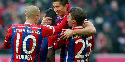3. Lewandowski – Müller – Robben (Bayern Munich/Bundesliga) Foto:Getty Images