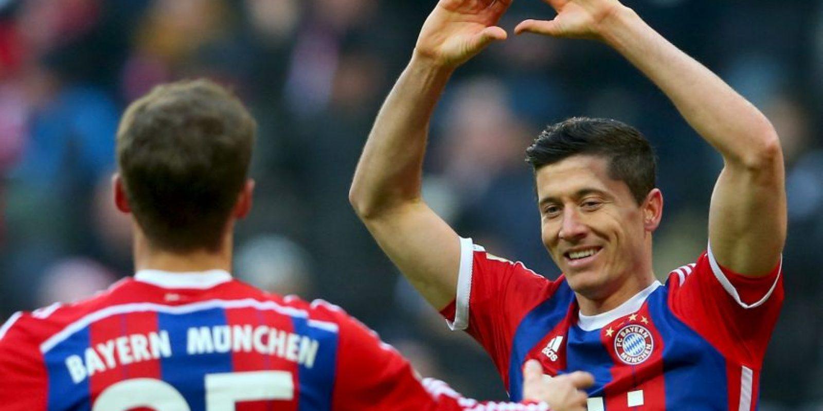 Robert Lewandoswki ha marcado 23 goles por 20 de Thomas Müller y 19 de Arjen Robben. Foto:Getty Images