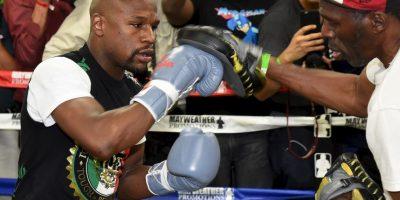 8. Si Mayweather vence en el primer asalto, la casa paga 67 dólares Foto:Getty Images