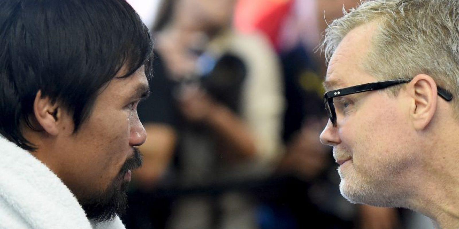 11. Si Manny gana en los puntos, se dan cinco dólares Foto:Getty Images