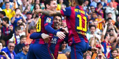 "La poderosa ""MSN"" tiene … ¡102 goles! Foto:Getty Images"
