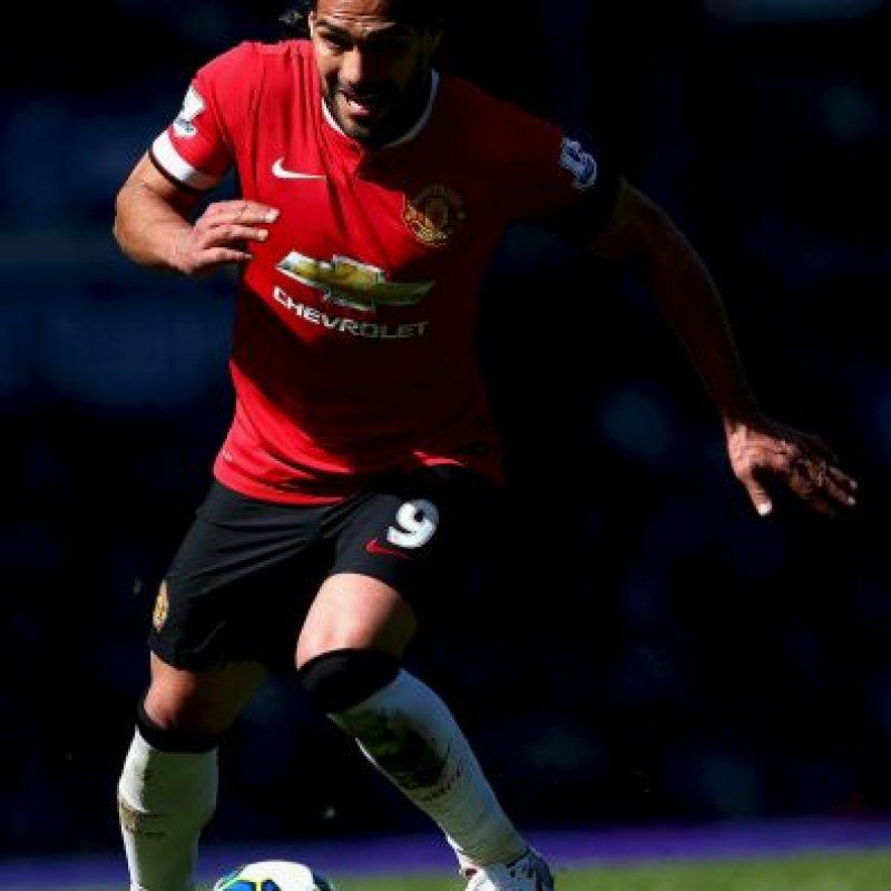 """El colombiano Radamel Falcao, a préstamo con el Manchester United vive una """"pesadilla"""" bajo las órdenes de Van Gaal. Foto:Getty Images"""