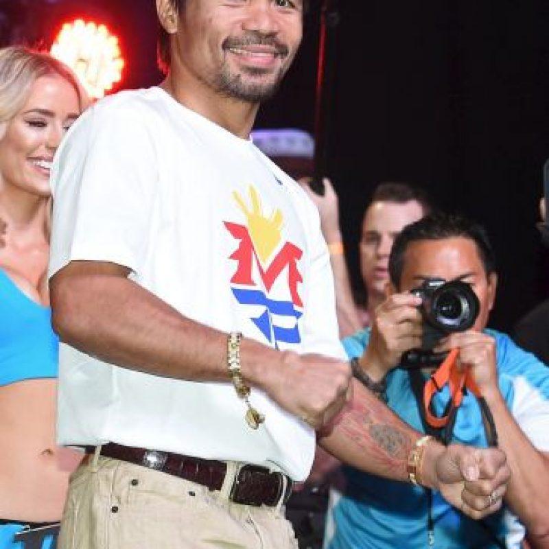"""7. Si """"Pacman"""" gana entre el séptimo y el décimo segundo round, se llevan nueve dólares Foto:Getty Images"""