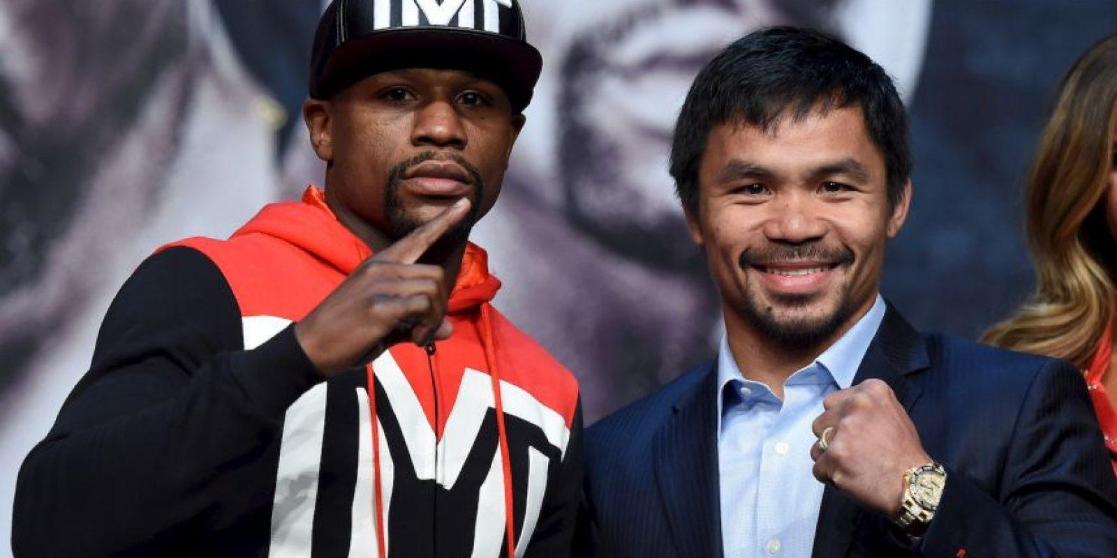 Este sábado 2 de mayo, Floyd Mayweather y Manny Pacquiao se enfrentarán en el MGM Grand Garden Arena de Las Vegas. Foto:Getty Images
