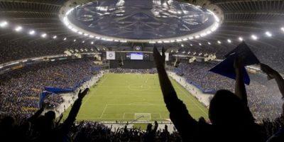 El cuadro azulcrema celebró en Canadá el cetro del torneo y su pase al Mundial de Clubes. Foto:AP