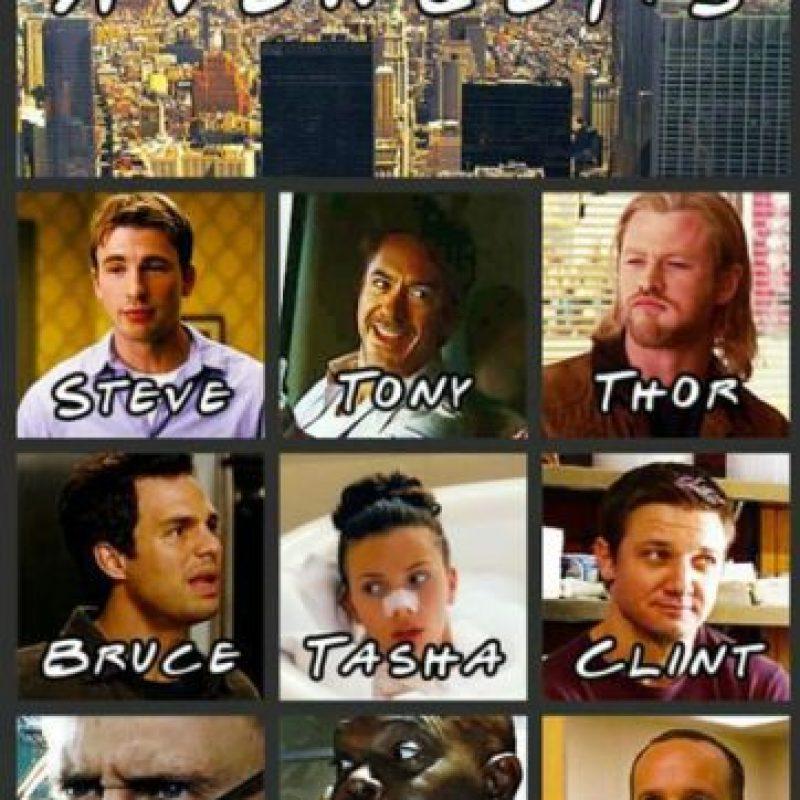 """""""Los Vengadores"""" si estuvieran en la serie """"Friends"""". Foto:vía Tumblr"""