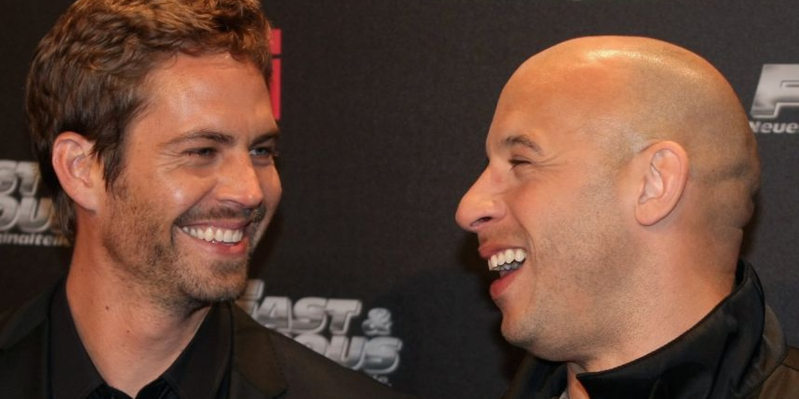 Después de filmar, Diesel visitó a Walker en su camerino para recordarle algo. Foto:Getty Images