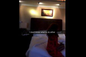 Rihanna teme dormir por el insecto Foto:Snapchat/Rihanna
