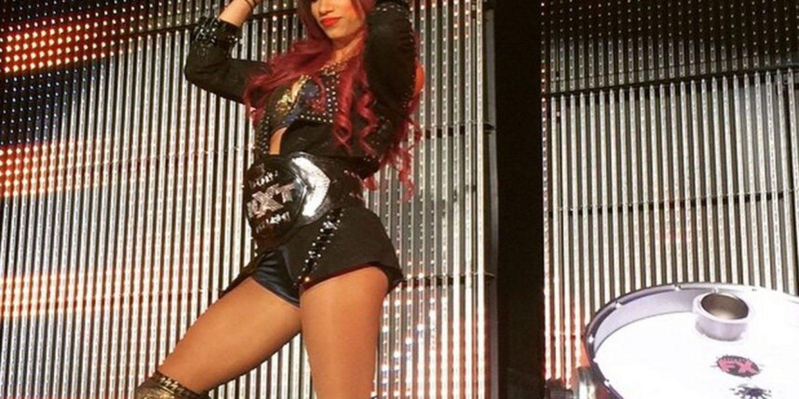 Ostenta el Campeonato Femenino de NXT Foto:Vía instagram.com/sashabankswwe