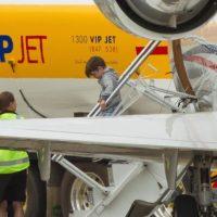Matteo Martin a su llegada a Sydney Foto:Grosby Group