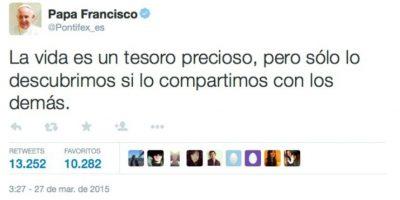 Foto:Twitter.com/Pontifex_es