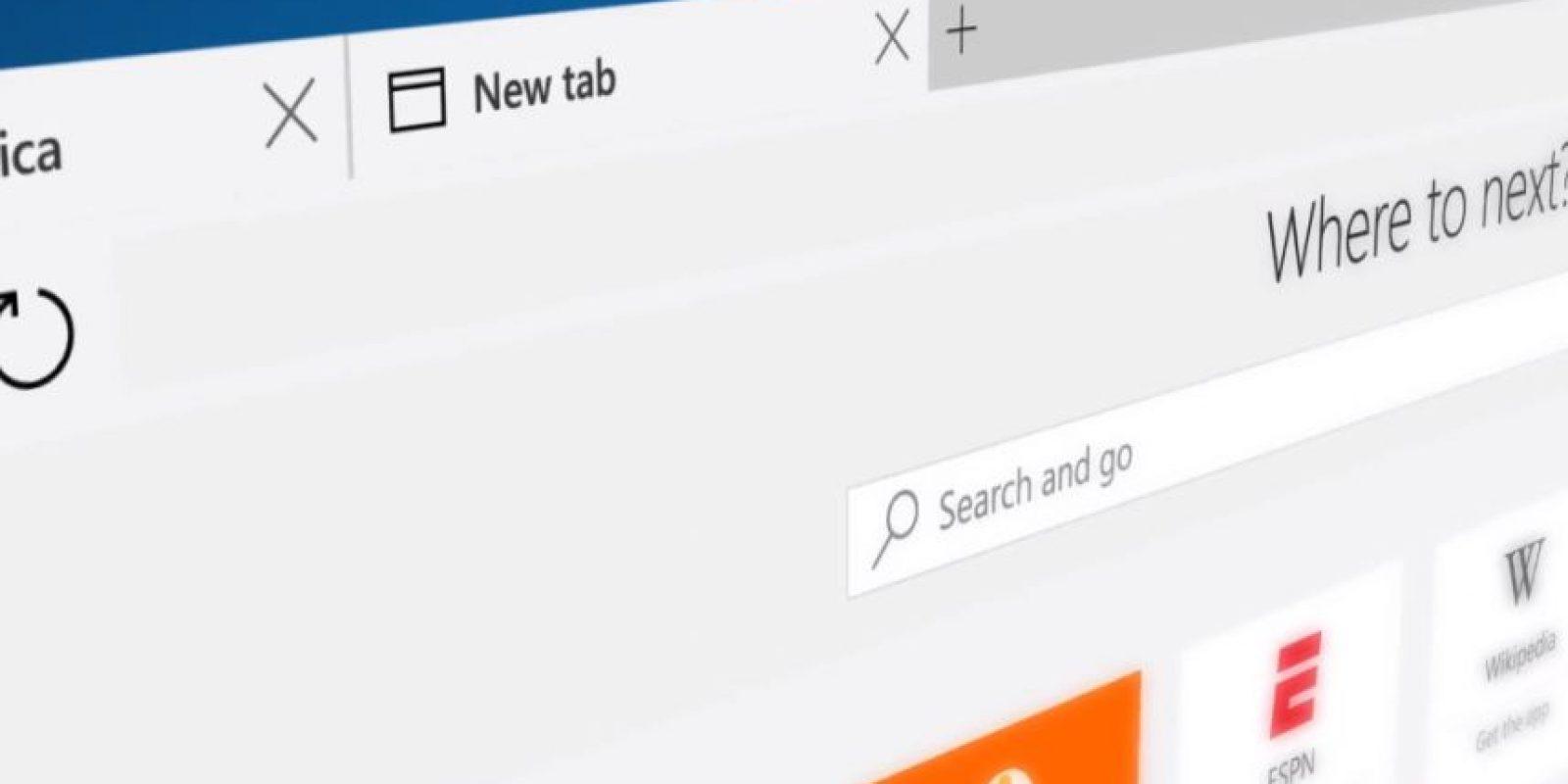 Este es el elegante diseño de Edge Foto:Microsoft Windows