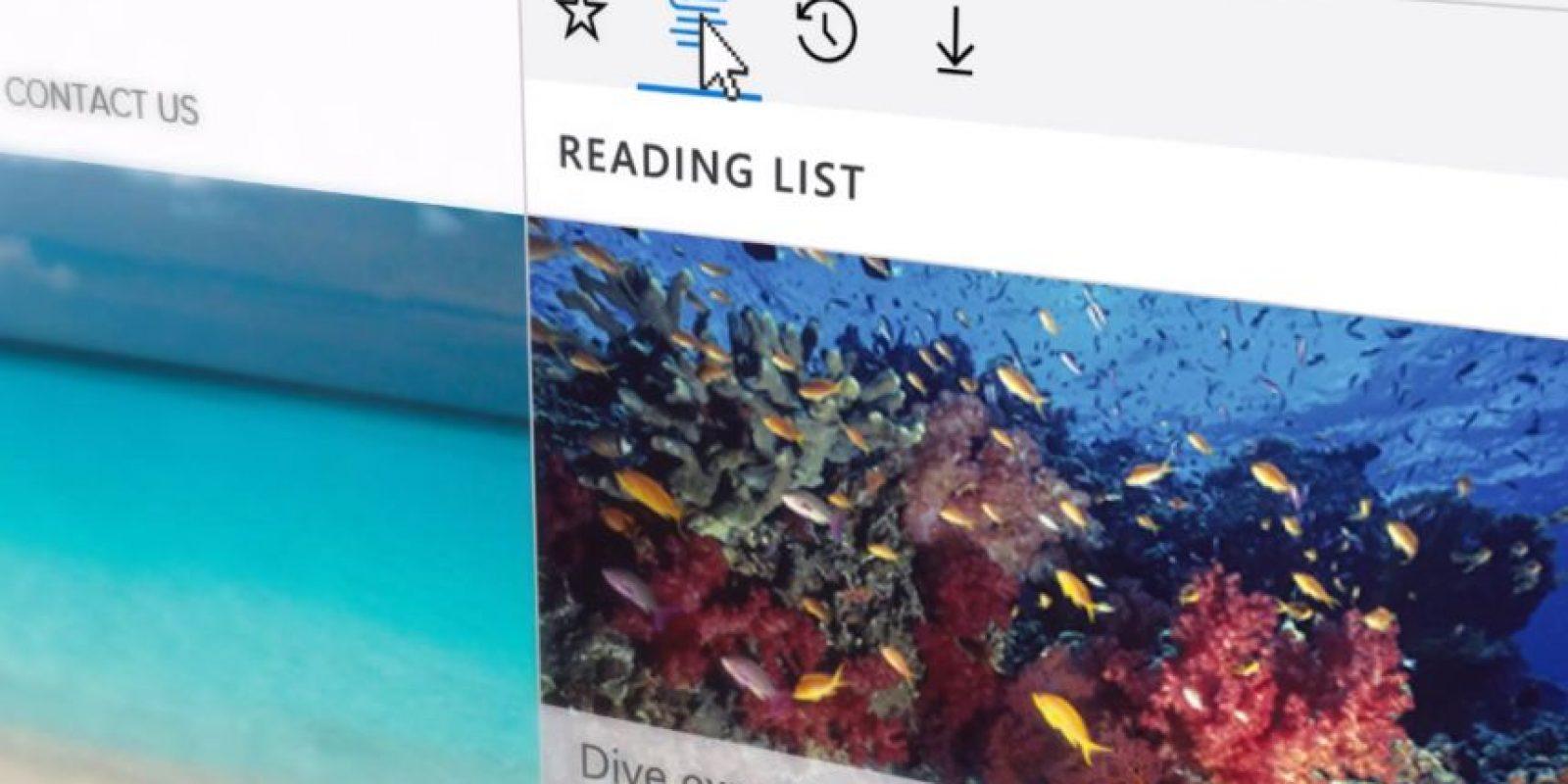 Además se incluyeron opciones como lista de lectura y descargas como una botón más Foto:Microsoft Windows