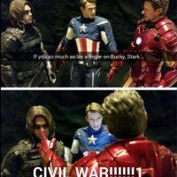 """""""Tony"""" fastidió al """"Soldado de Invierno"""" y por eso se inició la """"Guerra Civil"""". Foto:vía Facebook/Robert Downey Jr."""