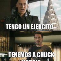 """Acá """"Los Vengadores"""" se defienden con Chuck Norris. Foto:vía Tumblr"""