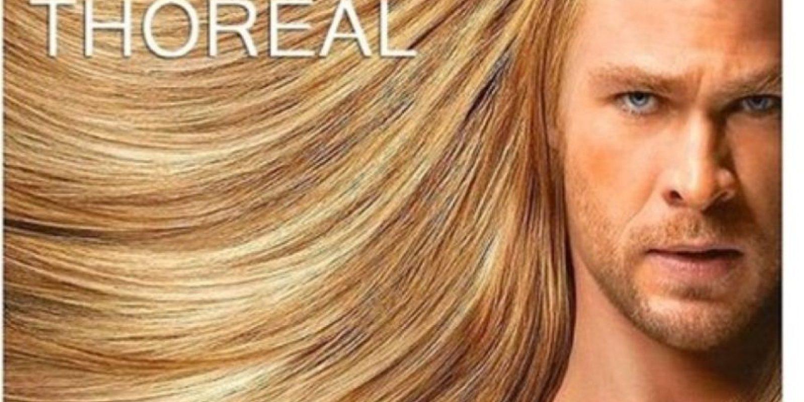 """""""Thor"""" y su hermoso cabello rubio. Foto:vía OkeyMeme"""