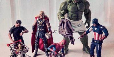 """""""Spiderman"""" tiene que pagar por ser el nuevo. Foto:vía Facebook/Robert Downey Jr."""