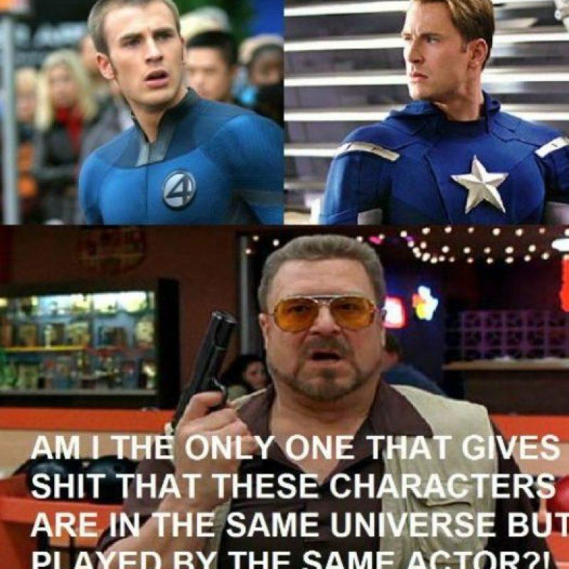 """Muchos no entienden como """"Chris Evans"""" puede ser uno de """"Los 4 fantásticos"""" y también """"El Capitán América"""": Foto:vía OkeyMeme"""