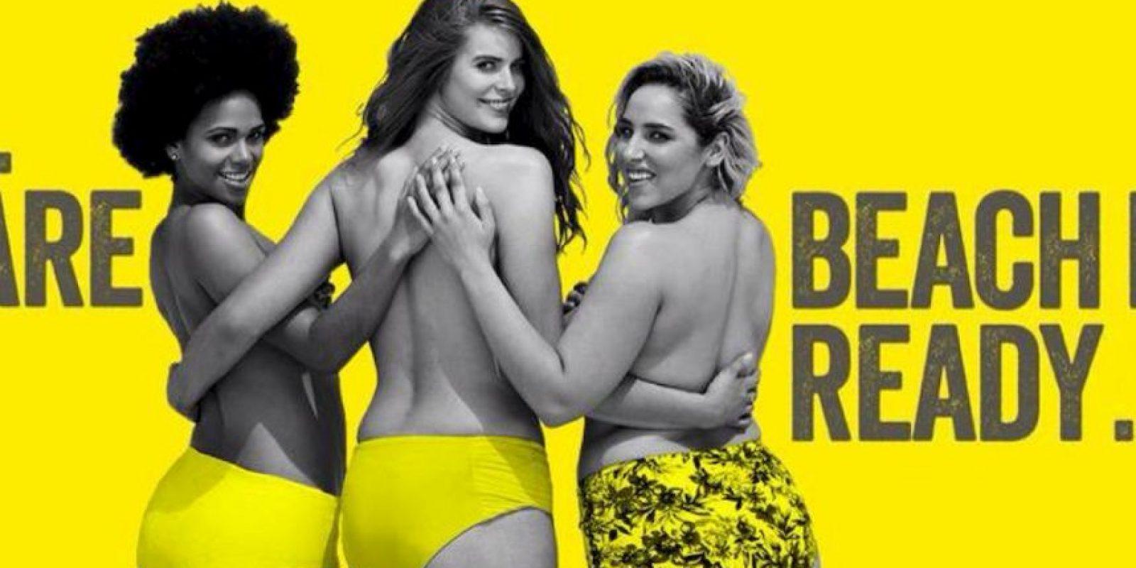 """El cartel diseñado anónimamente afirma: """"Sí. Nuestro cuerpo está listo para la playa"""" Foto:Vía Twitter @LAAFapparel"""