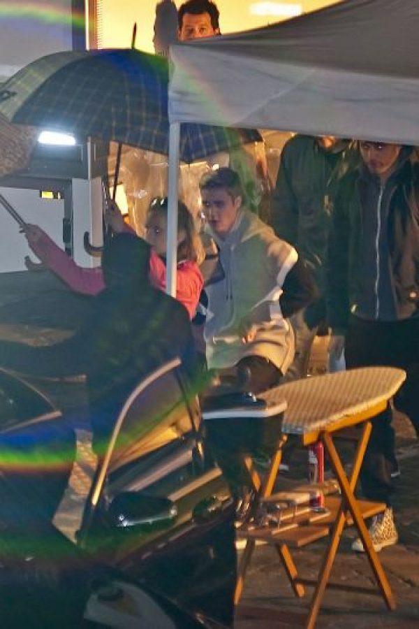 Justin Bieber en el set de filmación Foto:Grosby Group