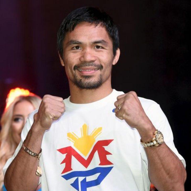 """Manny Pacquiao está listo para la """"Pelea del Siglo"""". Foto:Getty Images"""
