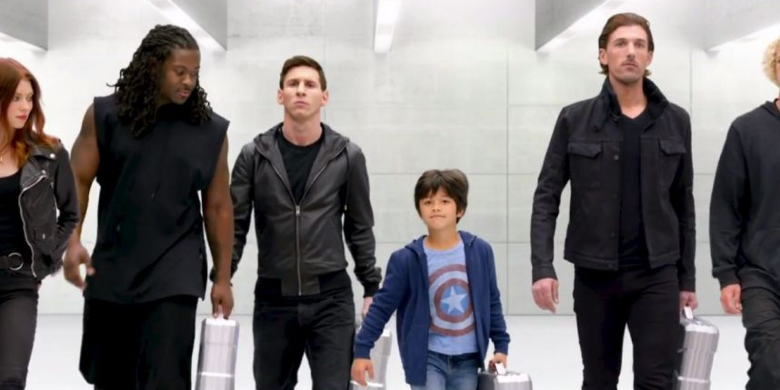 """Lionel Messi es convocado con otros cinco reclutas para personificar a """"Los Vengadores"""". Foto:vía/Youtube Samsung"""