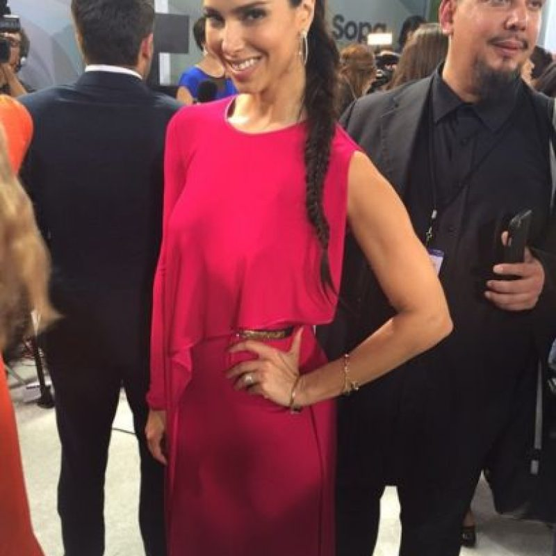 Roselyn Sanchez, hubieses mejorado tu peinado, pero el vestido es perfecto. Foto:vía Instagram/E!
