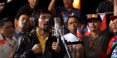 """Así es. El famoso """"Pacman"""" también canta y actúa. Tiene dos álbumes de estudio y ha actuado en cuatro películas. De hecho, la canción que sonará cuando salga al ring del MGM Grand Garden Arena este dos de mayo, fue compuesta e interpretada por él mismo. Foto:Vía facebook.com/MannyPacquiao"""