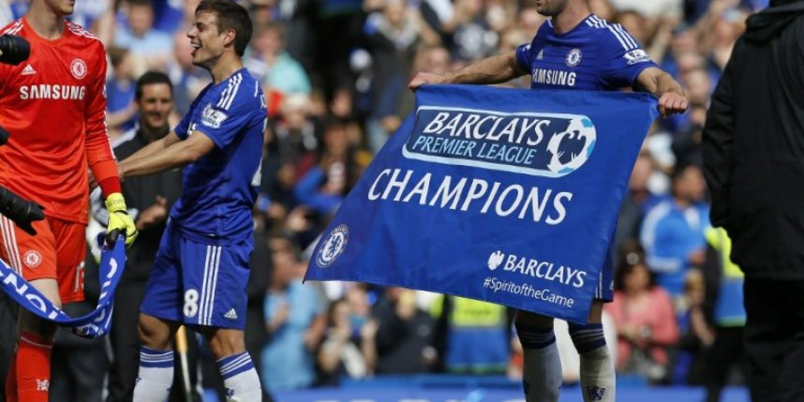 El equipo londinense se coronó con una victoria sobre el Crystal Palace. Foto:AFP