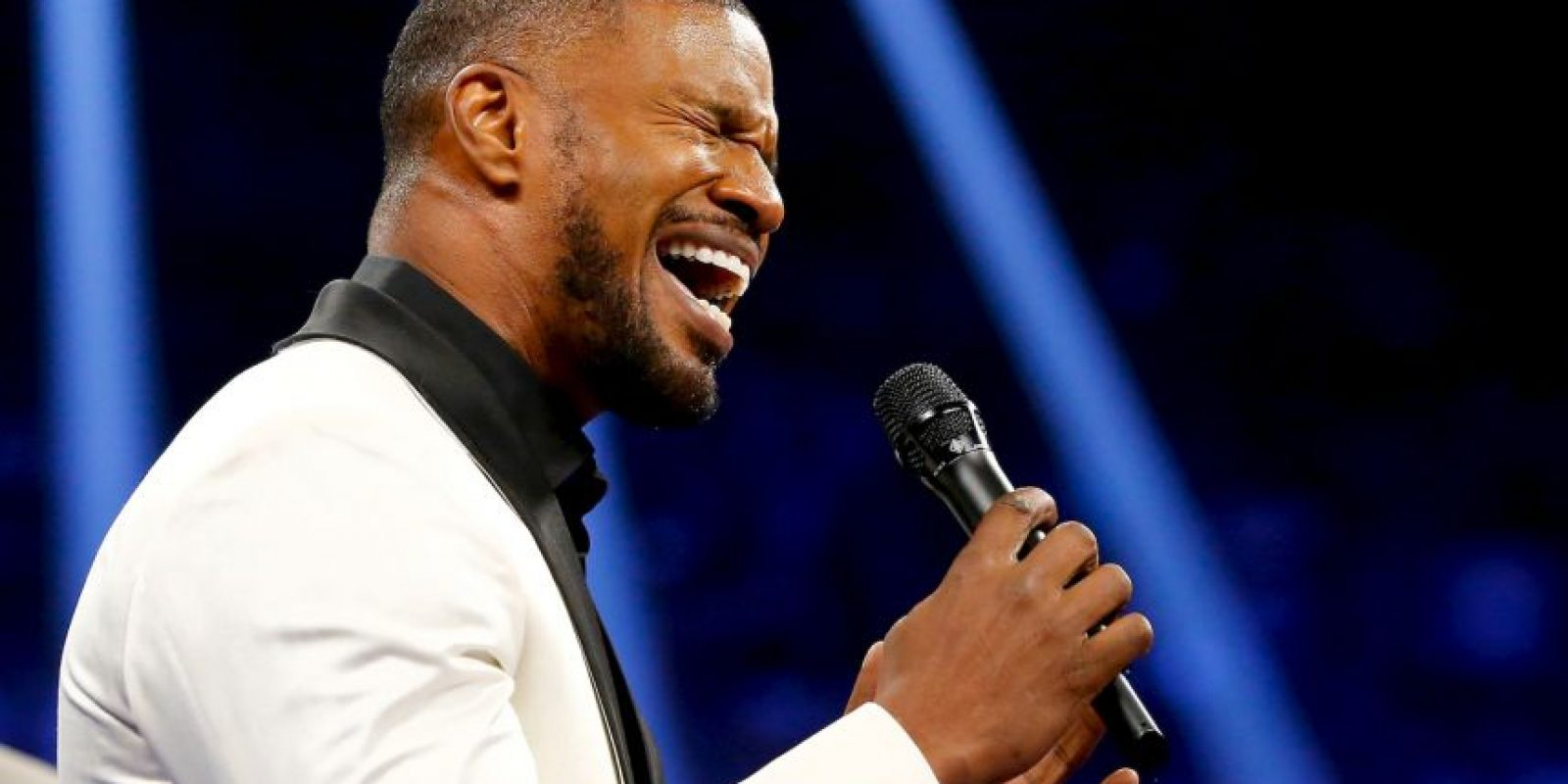 Jamie Foxx, quien interpretó el himno de Estados Unidos Foto: Getty Images