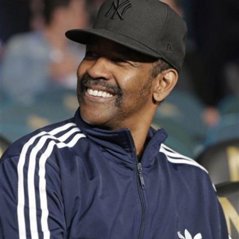 El actor estadounidense Denzel Washington ya se encuentra en el MGM Grand Garden Arena Foto:AP