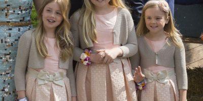 8. Princesa Catharina, princesa Alejandra y princesa Ariane (Países Bajos)- Tienen once, nueve y ocho años, respectivamente. Son hijas del rey Guillermo Alejandro y de la reina Máxima. Foto:Getty Images
