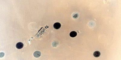 """""""Me pregunto qué serán"""", dice el astronauta sobre esta fotografía tomada en el norte de África Foto:Facebook.com/NASA-Astronaut-Scott-Kelly"""