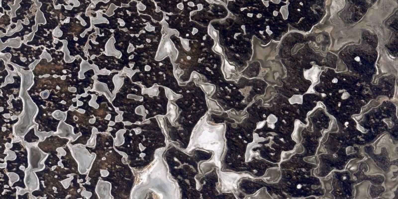 """""""Algunas personas ven imágenes en las nubes. Yo veo patrones en la tierra. ¿Qué ven ustedes?"""", pregunta Kelly Foto:Facebook.com/NASA-Astronaut-Scott-Kelly"""