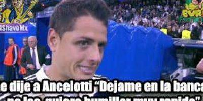 """Y la verdadera razón por la cual """"Chicharito"""" no arrancó de titular. Foto:facebook.com/pages/Burlas-Futboleras"""