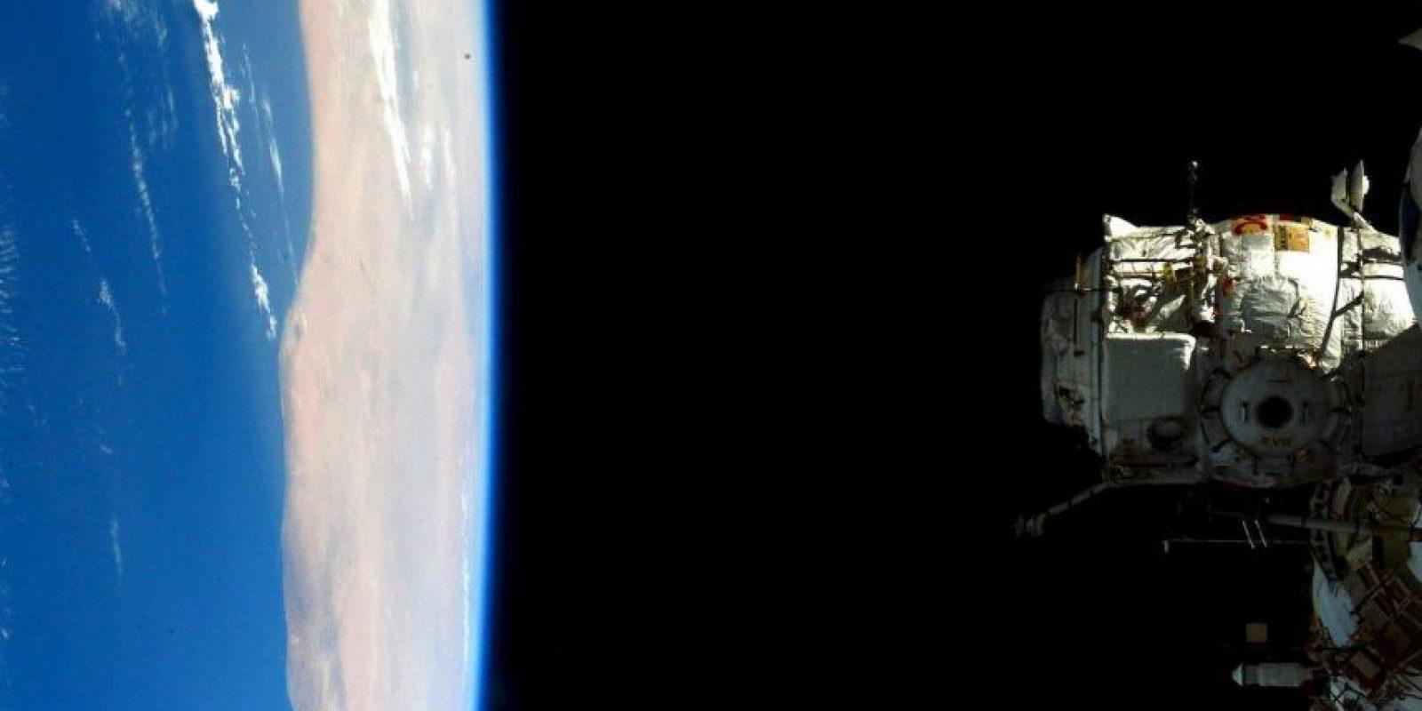 Una vista de la Estación Espacial Internacional Foto:Facebook.com/NASA-Astronaut-Scott-Kelly