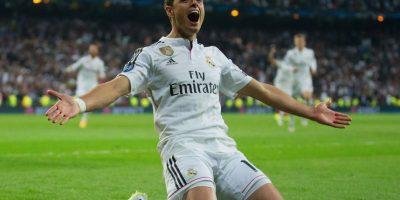 """A pesar de que anotó el gol decisivo en cuartos de final, el """"chicharito"""" Hernández podría comenzar en la banca del Real Madrid. Foto:Getty Images"""