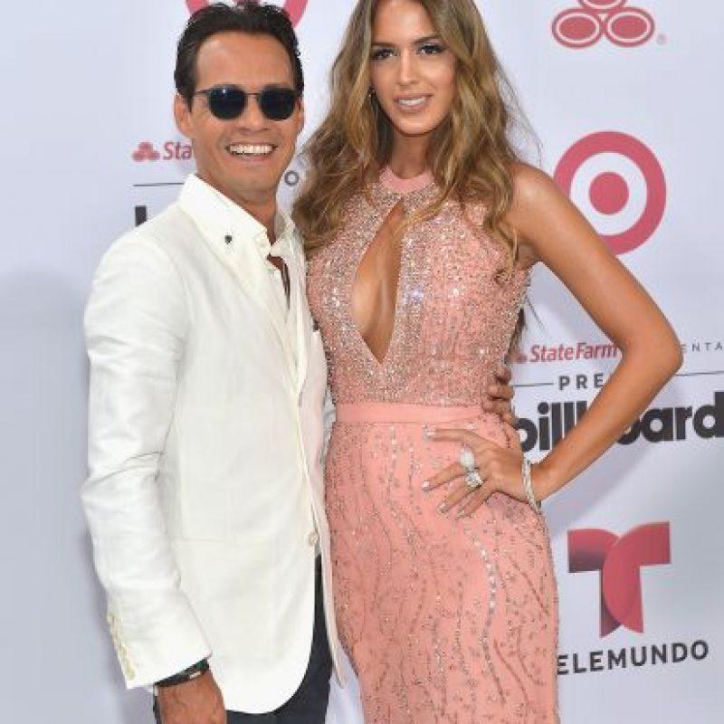 Marc Anthony y Shannon de Lima lucieron muy sonrientes durante la entrega de los premios. Foto:Getty Images