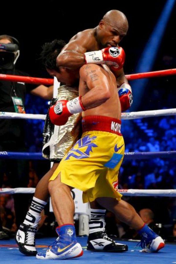 Su último rival fue Manny Pacquiao, a quien venció con decisión unánime… Foto:Getty Images