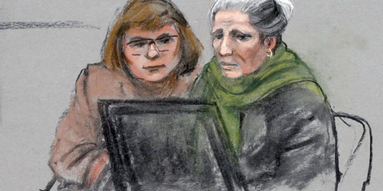 El juez George O'Toole sugirió que la defensa llamara otro testigo para que ella se repusiera. Foto:AP