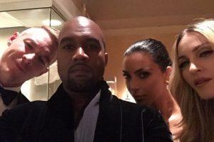 Kim Kardashian compartió una fotografía junto a Madonna y Kanye West Foto:Instagram/Kimkardashian