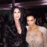 Kim Kardashian presumió foto junto a Cher Foto:Instagram/Kimkardashian