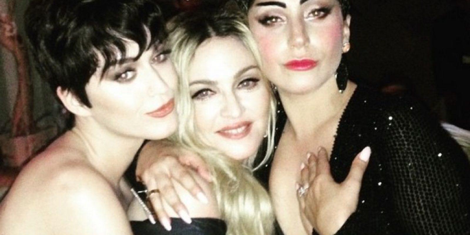 Madonna no quiso quedarse atrás y compartió una imagen junto a Katy Perry y Lady Gaga Foto:Instagram/Madonna