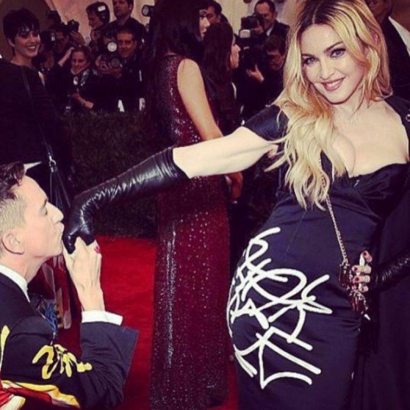 Madonna durante la gala del MET 2015 Foto:Instagram/Madonna