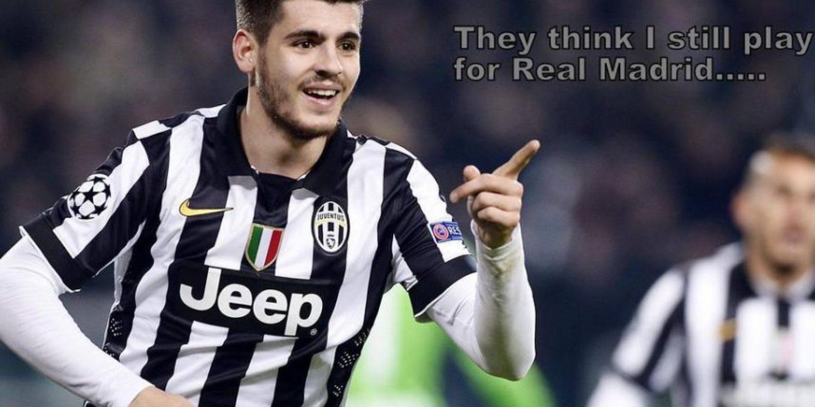 Y Álvaro Morata le marcó al equipo de donde surgió como futbolista. Foto:Vía twitter.com/troll__football