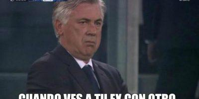 A Ancelotti no le gustó mucho que Morata le marcara al Real Madrid. Foto:Vía Twitter.com