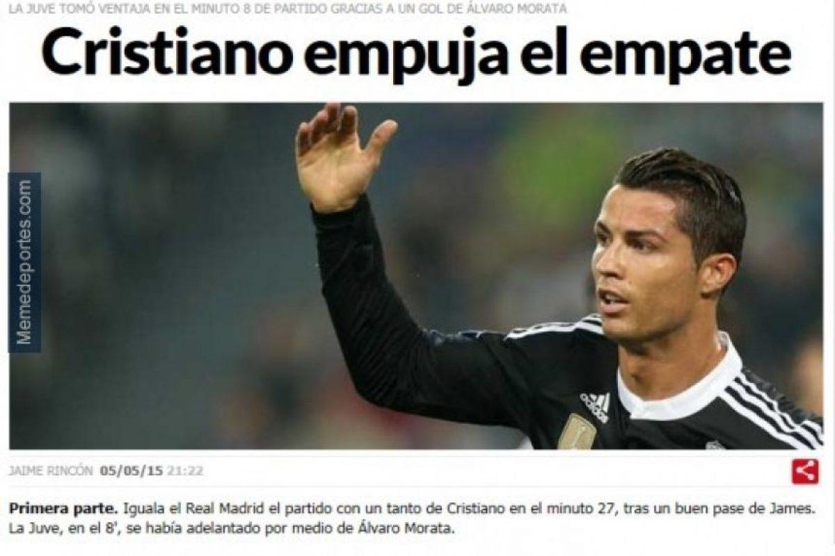 Y Cristiano marcó el empate. Foto:memedeportes.com