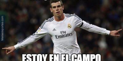 ¿En serio jugó Gareth Bale? Foto:memedeportes.com